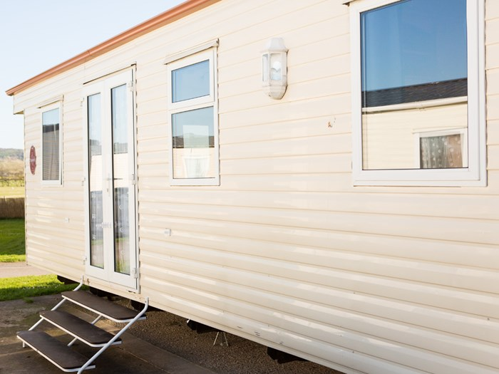ABI Discovery external side view french doors caravanlet.co.uk
